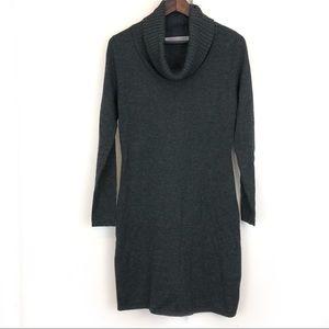 Athleta Cowl Neck 100% Merino Wool Sweater Dress